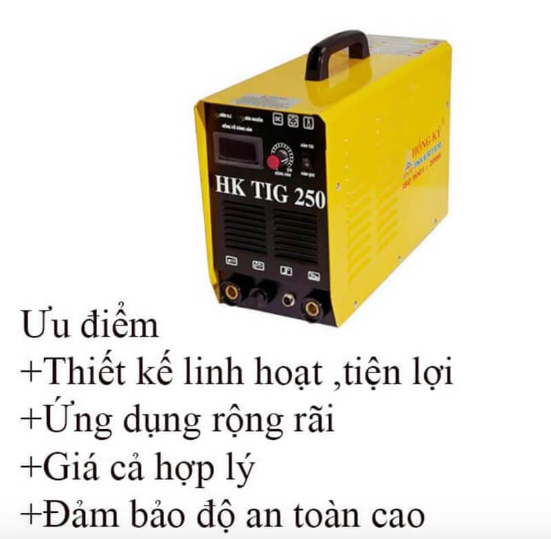 Vài ưu điểm nổi bật của máy hàn Inverter Hồng Ký HK TIG 250