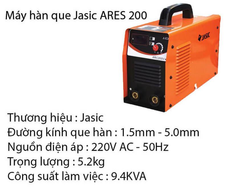 Thông tin về máy hàn que Jasic ARES 200