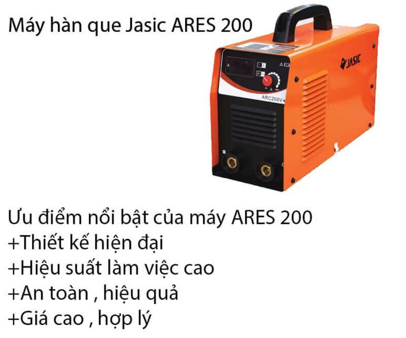 Vài ưu điểm nổi bật được đánh giá cao của máy hàn que Jasic ARES 200