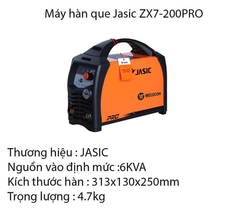 Thông tin về máy hàn que Jasic ZX7-200PRO