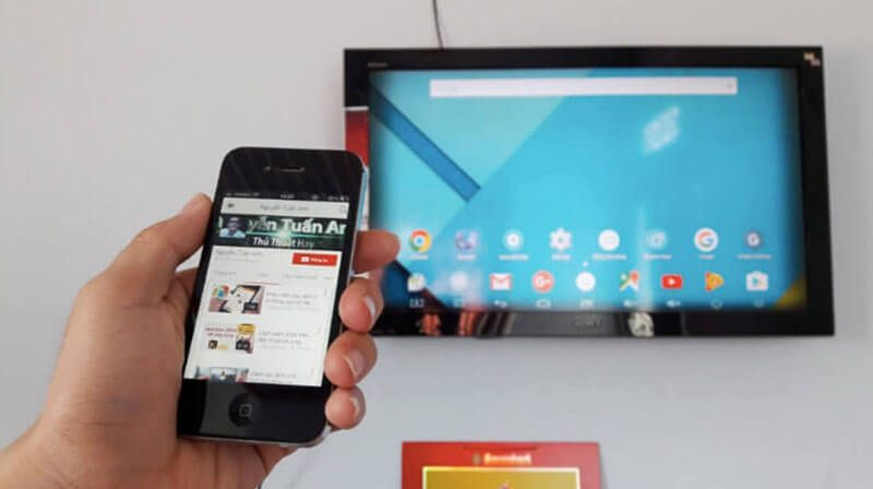 Truyền dữ liệu từ điện thoại lên TV
