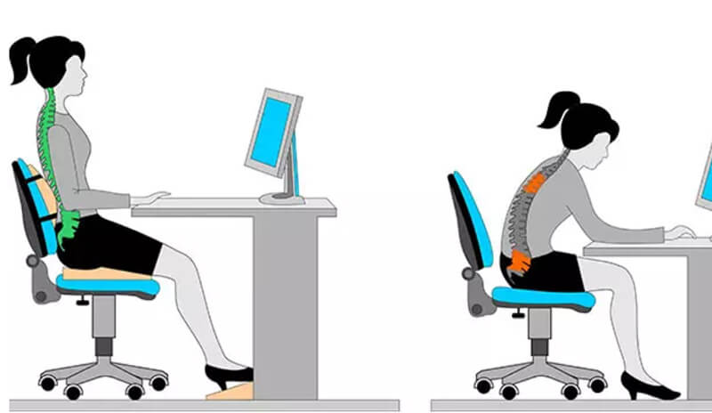 Tư thế ngồi tốt nhất để tránh đau lưng