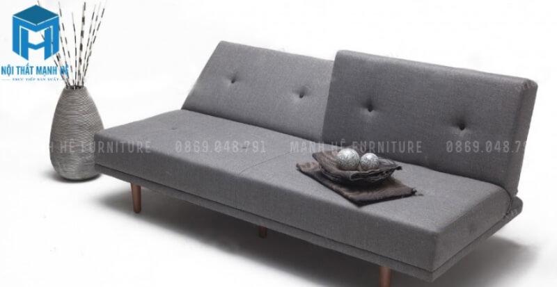 Sofa nệm gập thành giường đơn giản màu xám